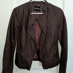 Brown Fitted Jacket, Size XS